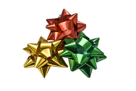 red, golden, green bows Stock Photo - 3900593