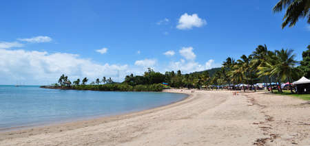 whitsundays: Airlie beach. Airlie Beach is a extremely popular tourist destination in the Whitsunday Islands Region of Queensland, Australia. Stock Photo