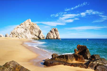 Amantes de la playa (costa del Pacífico), de Cabo San Lucas, Baja California Sur, México Foto de archivo