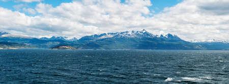 Beagle channel, Tierra del Fuego, Patagonia, Chile  Argentina Stock Photo