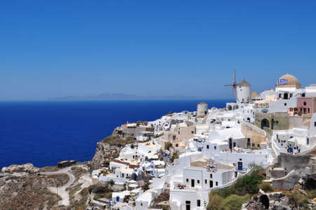 oia: Oia village, Santorini island, Greece