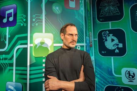 ISTANBUL, TURKIJE - 3 DECEMBER 2016: Steve Jobs cijfer bij Madame Tussauds Wax Museum in Istanbul. Steve Jobs was de mede-oprichter, voorzitter en chief executive officer van Apple Inc.