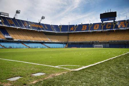 BUENOS AIRES, ARGENTINA - FEBRUARY 28, 2015: Estadio Alberto J. Armando (La Bombonera) is a home stadium for Club Atletico Boca Juniors. Stadium located in La Boca district of Buenos Aires, Argentina.