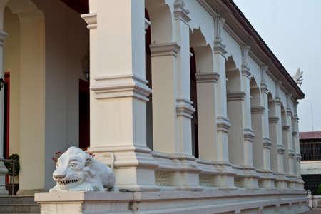religious habit: Terrace of Buddhist temple in Thailand