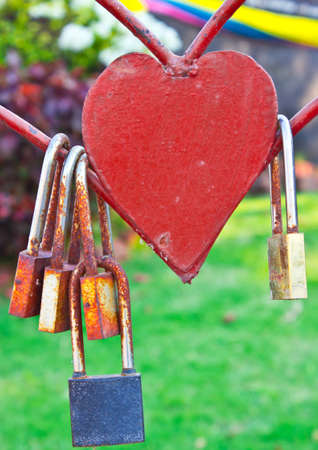unfreedom: Love locks representing secure friendship and romance