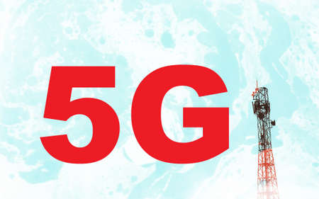 Abstract concept for global 5G network photo