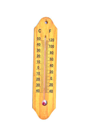 Thermometer isolated on white  photo