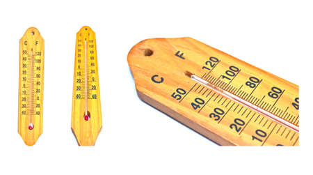 Thermometer on white background  photo