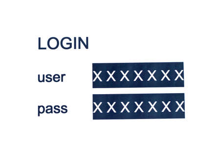 username: Login Box - Username and Password Stock Photo