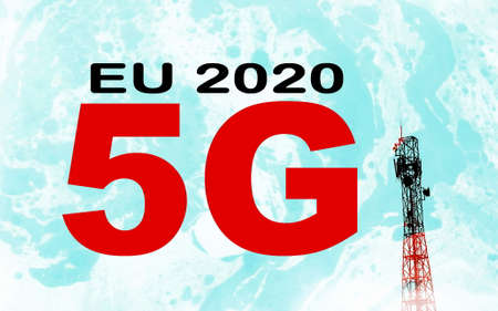 Abstract concept for EU 2020 5G network  photo