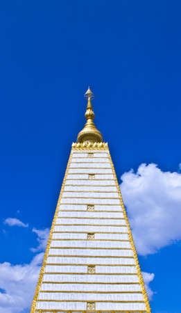 gaya: Religious place of buddhist Simulation of Bodh Gaya  Buddhakhaya  Chedi in Phra That Nhong Bua Temple ,Ubonratchathani, Thailand