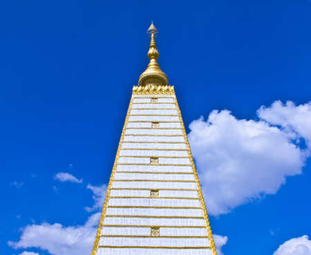 Religious place of buddhist Simulation of Bodh Gaya  Buddhakhaya  Chedi in Phra That Nhong Bua Temple ,Ubonratchathani, Thailand  photo