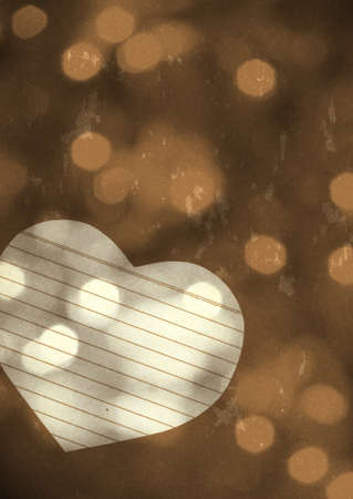 Paper heart on grunge background texture photo