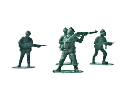 green military miniature: Miniature toy soldiers to attack enemy  Stock Photo