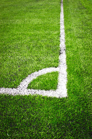 Corner of a soccer field, football field, soccer field  photo