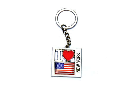 Bunch of key with red heart   I love New York  photo