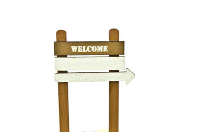 Vintage welcome sign on white background, add your own text  photo