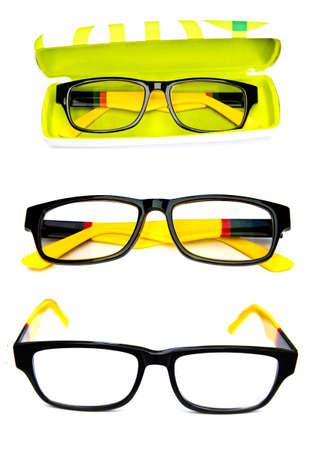 set of eyeglass on a white background. photo