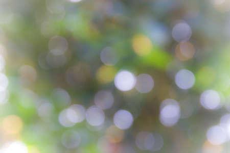 Natural blurred bokeh. Defocused bokeh twinkling lights. photo