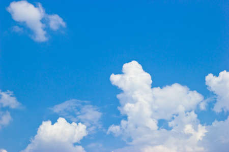 Poodle dog-shaped cloud in the blue sky. photo
