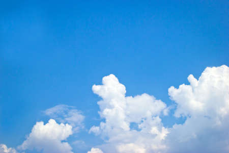 Poodle dog-shaped cloud in the blue sky.