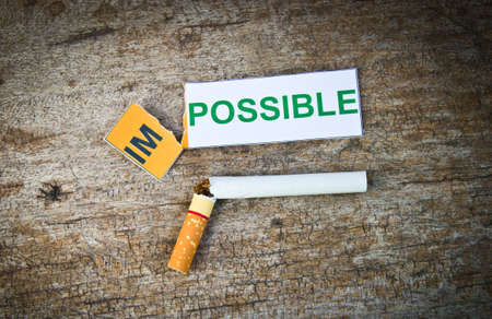 quitting: World No Tobacco Day : Quitting smoking concep. Stock Photo