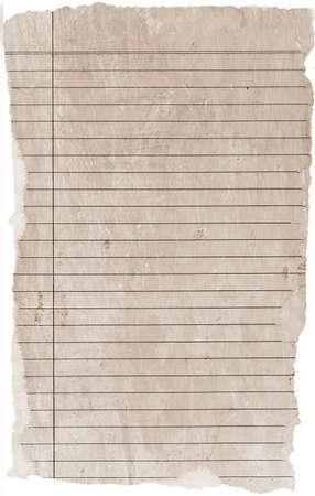 Old paper Brief. Vintage-Papier Texturen Hintergrund.