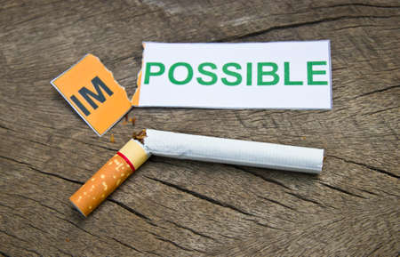 concep: World No Tobacco Day : Quitting smoking concep. Stock Photo