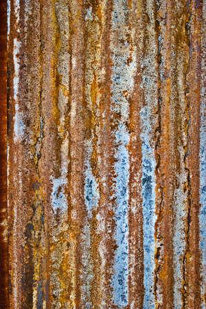 galvanized: Rusted galvanized iron roof plate.