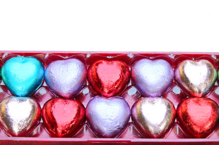 Chocolate hearts candy Imagens