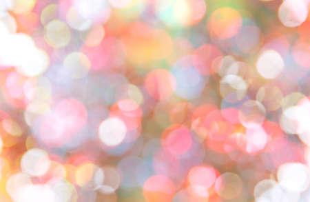Abstract circular bokeh background of Christmas light.
