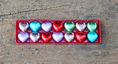 Valentines Day background with sweet hearts