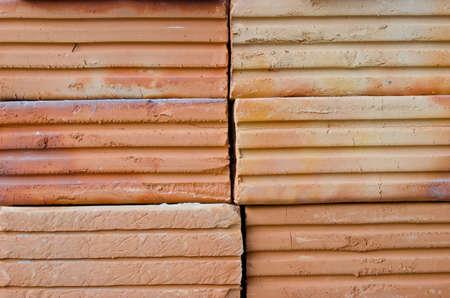 Orange brick for construction. brick, brick wall, brick texture,