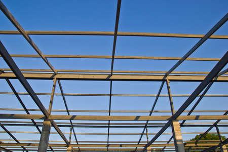 Workshop of steel roof is under construction