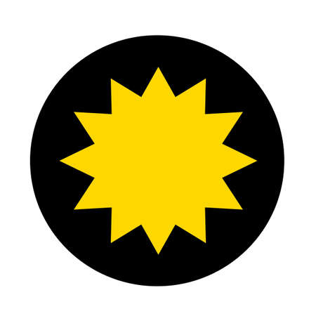 star background: yellow star on black circle background