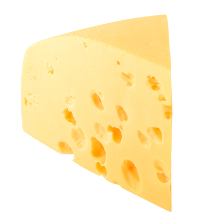 cheese, isolated on white background, clipping path Stock Photo