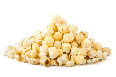 popcorn isolated on white background, clipping path, full depth of field Stock Photo