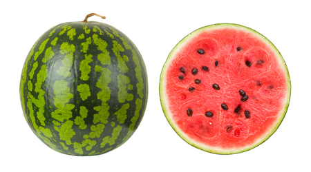 watermelon on a white background, isolated Foto de archivo - 100380225