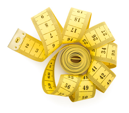 measuring tape, isolated on white background, slimming concept