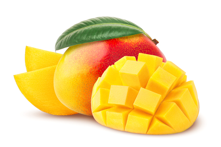 mango isolated on white background, clipping path, full depth of field Stock fotó