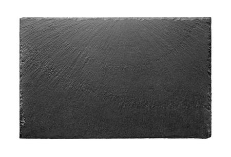 black slate, isolated on white background