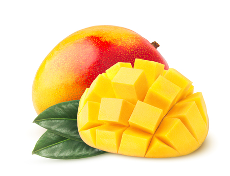 mango isolated on white background, clipping path, full depth of field 写真素材
