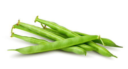 Green beans isolated on white background, clipping path, full depth of field Фото со стока