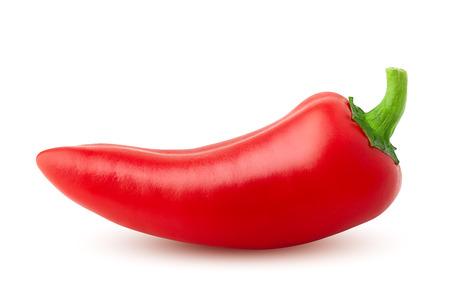 czerwone ostre papryczki chili na białym tle, na białym tle, wysokiej jakości zdjęcie, ścieżka przycinająca