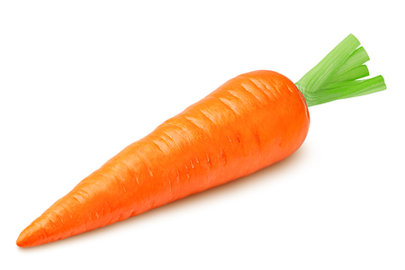 carrot isolated on white background, clipping path, full depth of field
