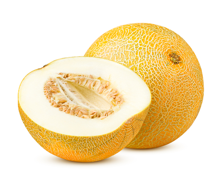 melon isolated on white background, clipping path, full depth of field