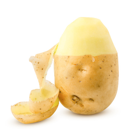 potato, isolated on white background, clipping path, full depth of field