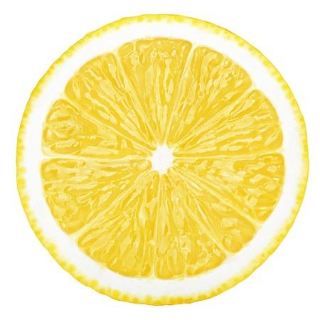 lemon slice, clipping path, isolated on white background Banco de Imagens