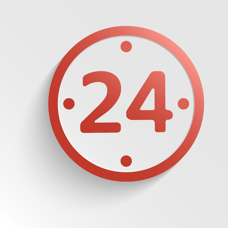 sign - 24 hours a day in the form of a clock Vector