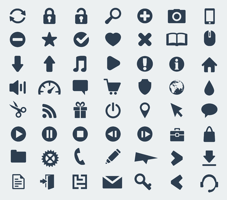 phone box: web and application icons set